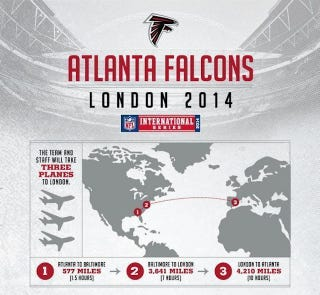 Illustration for article titled Graphic: The Atlanta Falcons Don't Know Where London Is