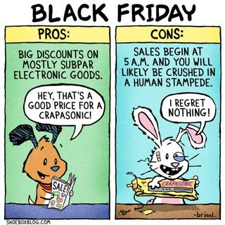Illustration for article titled The Reality of Black Friday