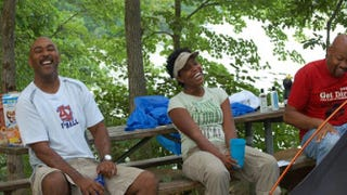 Grown folks in the woods Photo courtesy of Outdoor Afro