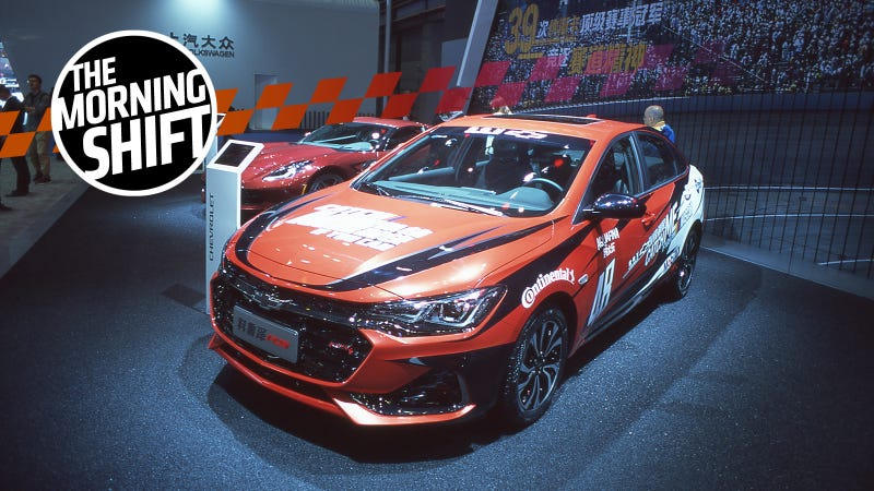 A scene from the Chevy stand at the Shanghai Auto Show. Photo Credit: Raphael Orlove