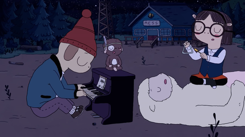 The crew from Summer Camp Island enjoying a night out.