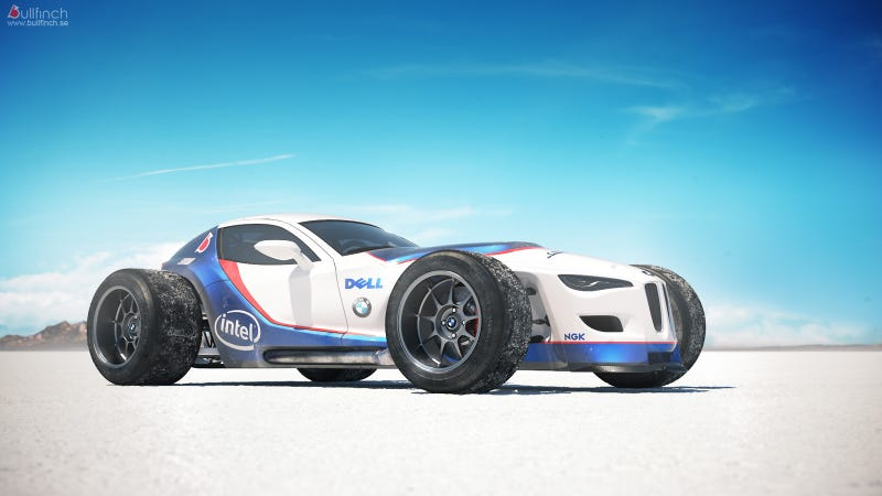 Illustration for article titled Retro F1-inspired BMW concept is android James Garner's new ride