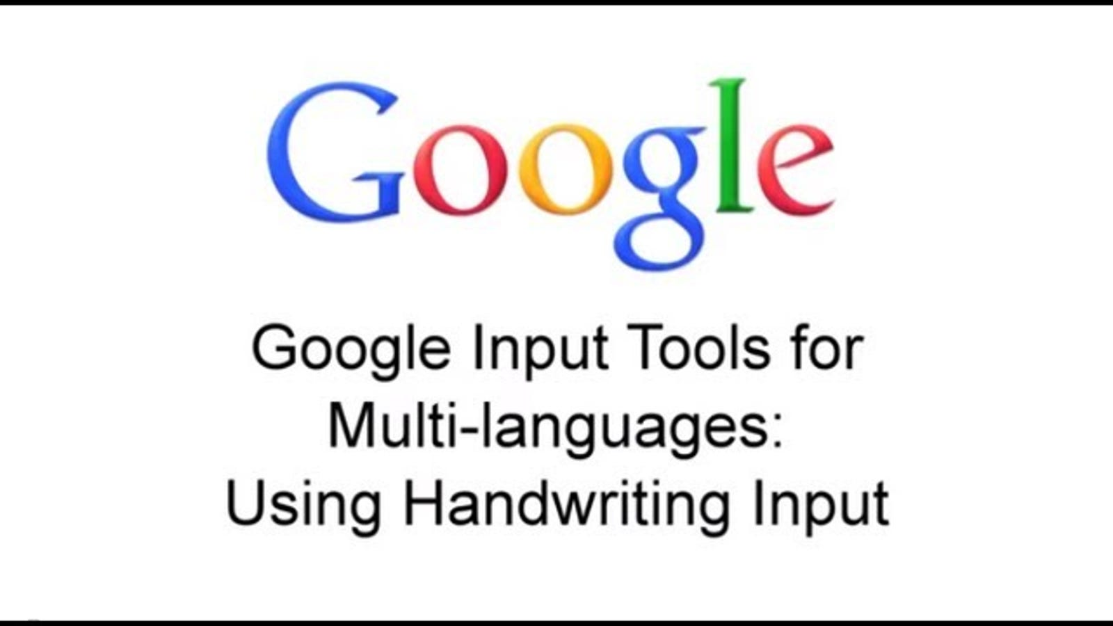 Gmail and Google Docs Now Support Handwriting Input