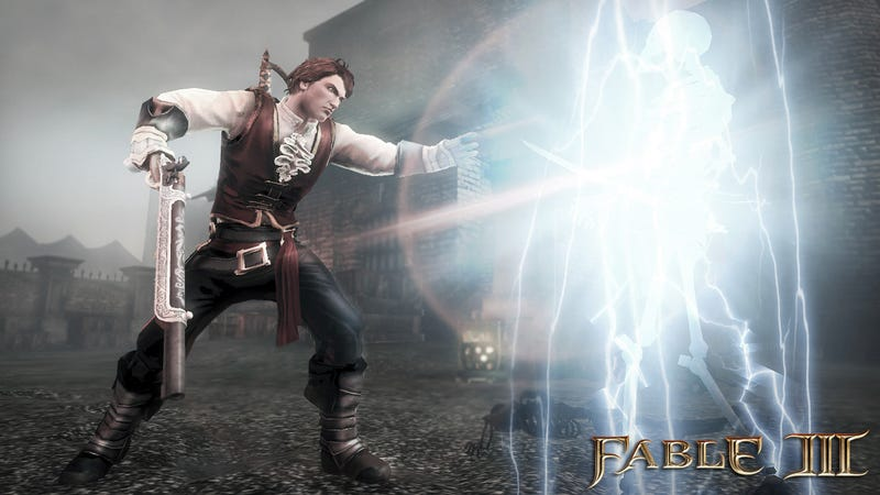 Illustration for article titled Fable III Screens Do Combat, Level Up
