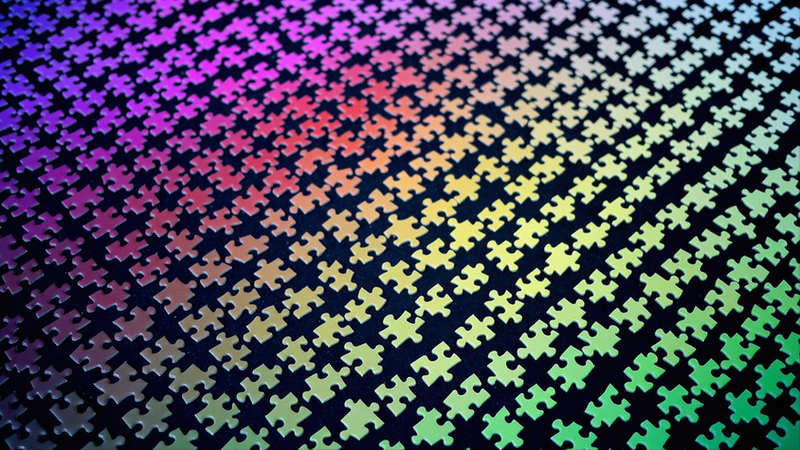Illustration for article titled This Jigsaw Puzzle Made of 1,000 Colors Is Easier Than You Think