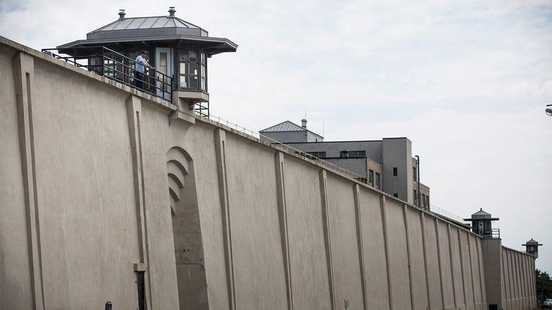 A prison wall.