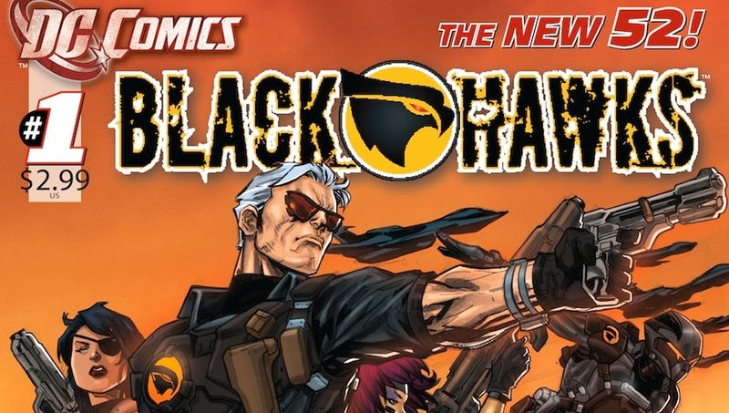 Illustration for article titled First Pages of DC Comics' High-Tech Blackhawks Series