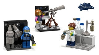 Illustration for article titled Help support a CUUSOO project of cool Female minifigures doing science