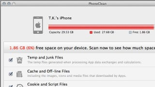 Illustration for article titled PhoneClean Scans Your iOS Device to Reclaim Storage Space