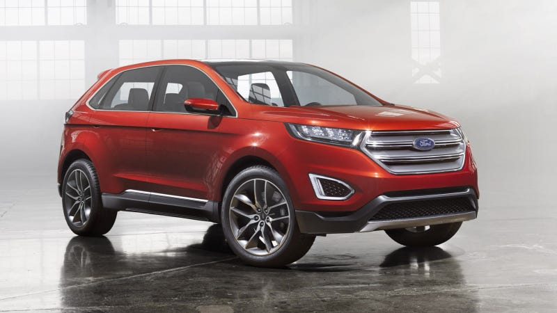 Illustration for article titled The Ford Edge Concept Can Un-Park Itself By Remote Control