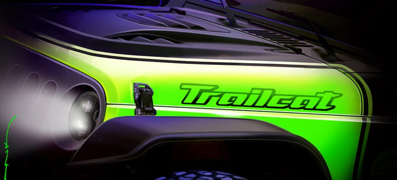 Illustration for article titled Is The Jeep Trailcat A 707 Horsepower Wrangler?