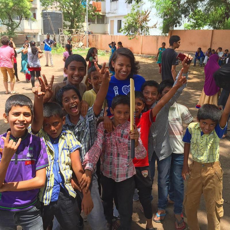 Joye Nettles (in blue T-shirt) during five weeks of training at ThoughtWorks University on July 11, 2015, in Pune, Maharashtra, IndiaCourtesy of Joye Nettles