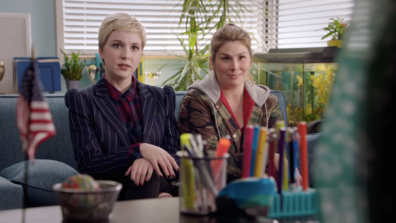 Cozi Zuehlsdorff and Heidi Blickenstaff star in the newest version of body-swap comedy Freaky Friday.