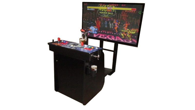 Illustration for article titled You Know You Want This 60-Inch HD Arcade Machine with Built-In Kegerator