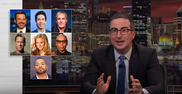 John Oliver uncovers deadly pharmacy loopholes with the help of an unlikely celebrity action team