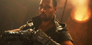 RZA as Blacksmith in scene from The Man With the Iron Fists (Ironfists.com/Universal Studios)