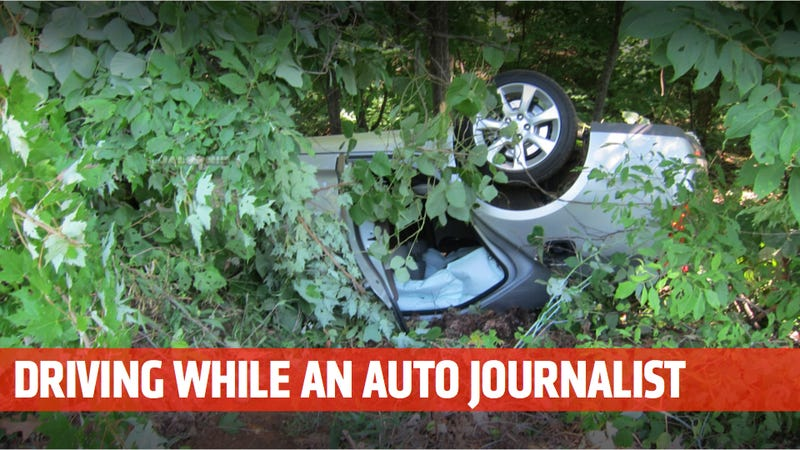 Illustration for article titled Journalist Flips Cadillac ATS In Crash 17 Miles From Race Track