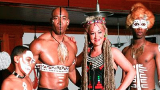 Rachel Dolezal poses with her tribe. How can you not miss this?Tumblr