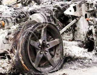Illustration for article titled Decadent American Corvette Burned By Ukrainian Proletariat