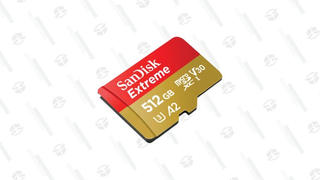 Give Your Switch a Bit of Extra Storage With a 512 GB MicroSD Card From SanDisk and Save $120