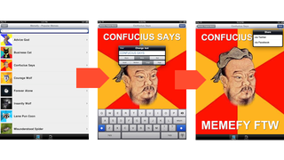 Illustration for article titled Memefy for iPad Puts the Power of Lulz at Your Fingertips