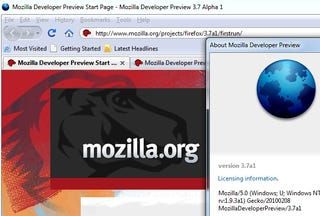 Illustration for article titled Firefox 3.7 Alpha is a Really Rough Look at Firefox 4.0