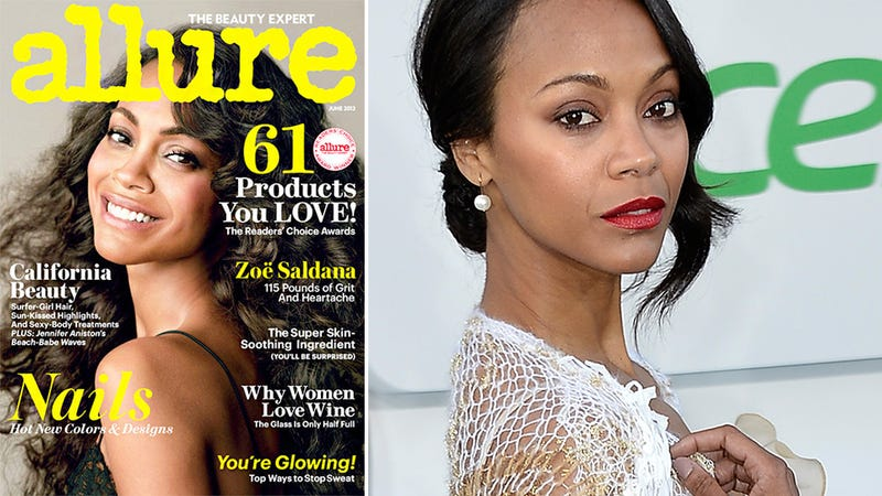 Illustration for article titled Zoe Saldana Totally Fine With Her Weight Being on the Cover of Allure