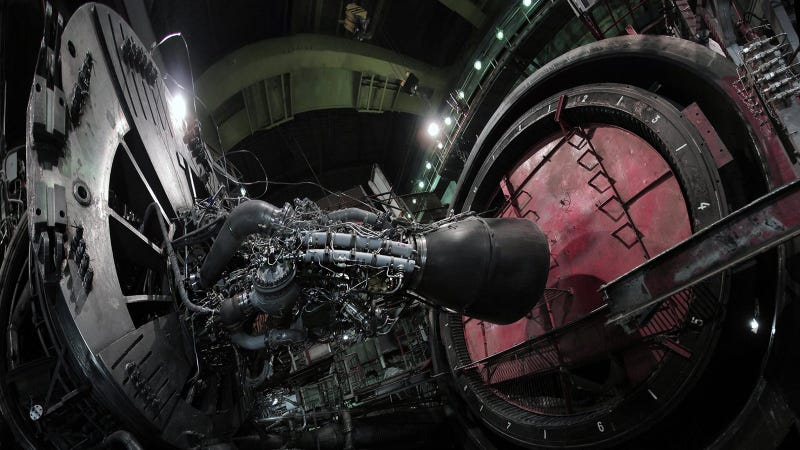 Illustration for article titled Check Out Russia's Sound-Proof,Indoor Rocket Engine Testing Chamber