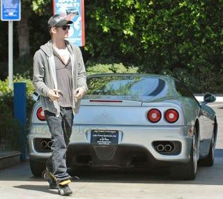 Illustration for article titled Hayden Christensen Drives A Ferrari 360