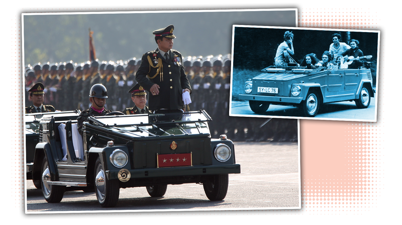 Illustration for article titled Holy Crap The Thai Military Still Uses Volkswagen Things