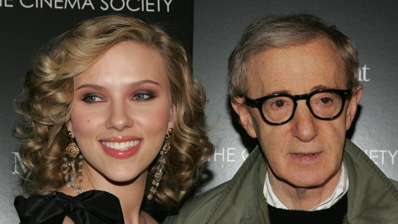 "Illustration for article titled Scarlett Johansson on Woody Allen: ""I believe him, and I would work with him anytime"""