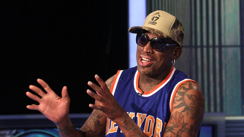 Illustration for article titled Dennis Rodman's first TikTok video is equal parts charming, confusing