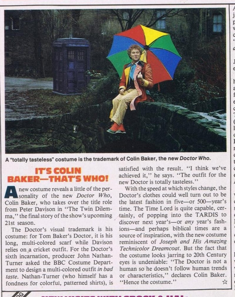 Illustration for article titled More fun from Starlog - attention Whovians