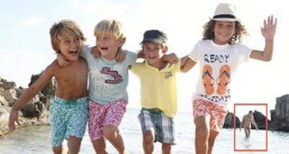 Illustration for article titled French Children's Fashion Ad Features Kids, Penis [NSFW]