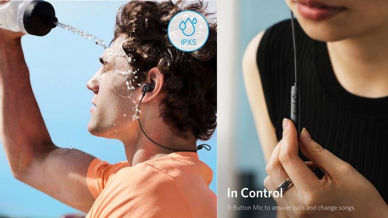 Anker SoundBuds Slim+ Bluetooth Headphones | $22 | Amazon | Promo code SDBUDS01