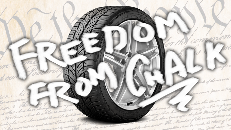 Illustration for article titled Federal Court Rules Chalking Parked Cars' Tires Is Unconstitutional