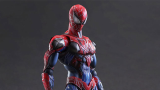 Illustration for article titled Play Arts Kai's New Spider-Man Figure Has The Most Pointless Armor Ever
