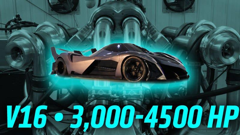 The Devel Sixteen S Insane 3 000 Hp V16 Engine Seems To