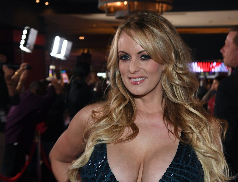 Adult-film actress-director Stormy Daniels attends the 2018 Adult Video News Awards at the Hard Rock Hotel & Casino on Jan. 27, 2018, in Las Vegas. (Ethan Miller/Getty Images)