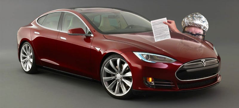 Illustration for article titled Flyer Accuses Tesla Owners Of War, 'Strange Sex,' 'Anal Itching'