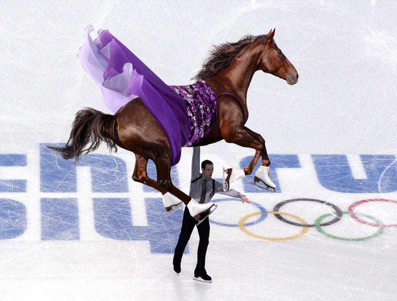 Illustration for article titled Big Brown Makes Winter Olympic Debut