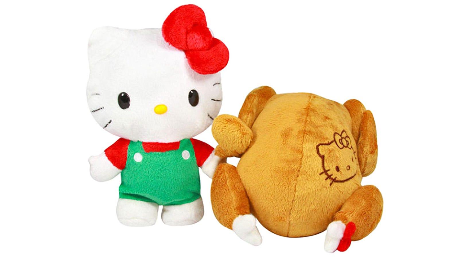 El inquietante peluche de Hello Kitty que se transforma en pollo