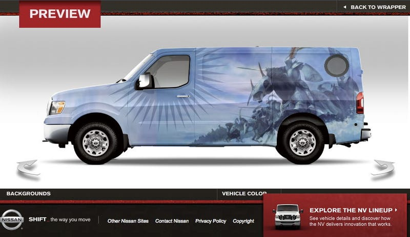 Illustration for article titled Wrap your Nissan NV in '70s fantasy art