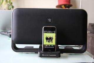 Illustration for article titled Altec Lansing T612: Their First iPhone-Friendly, GSM Buzz-Shielding Speaker Dock