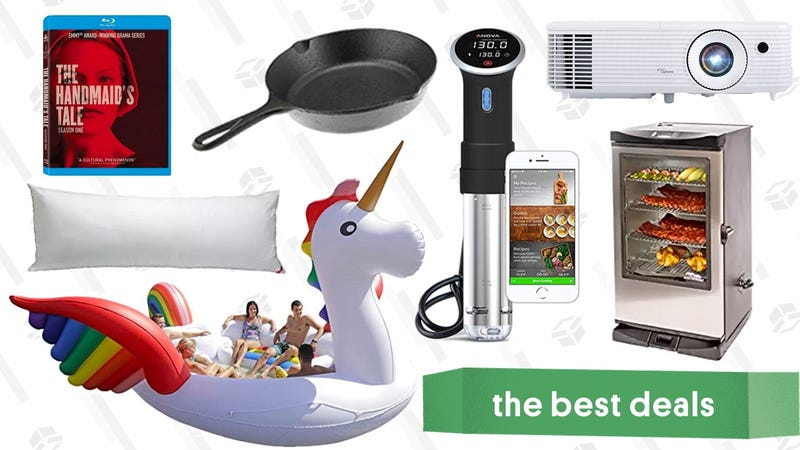 Illustration for article titled Saturday's Best Deals: Anova Sous Vide Cooker, Projector, Electric Smoker, and More