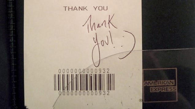 Smiley Face Doodled On Check Commemorates Undeniable Chemistry Between Waiter, Ericson Family