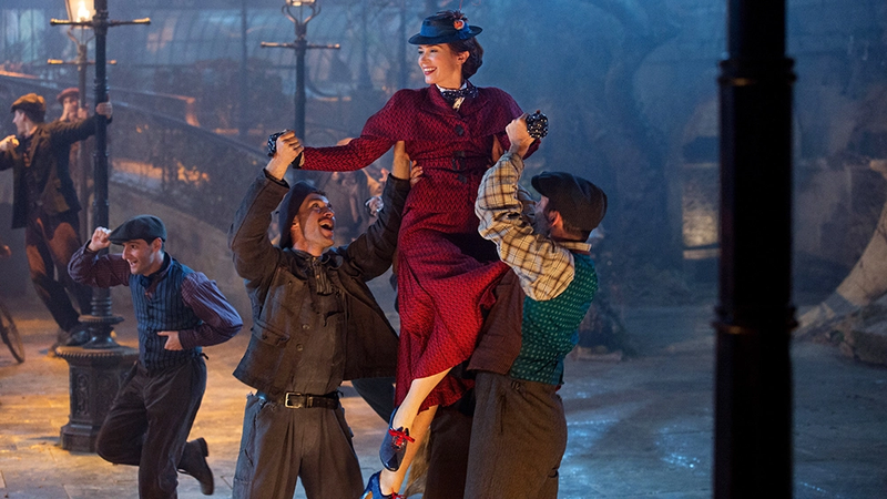 Mary Poppins (Emily Blunt), returning.