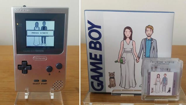 Getting a Custom Game Boy and Ceremony Game as a Wedding Gift Is the Best Reason to Get Hitched