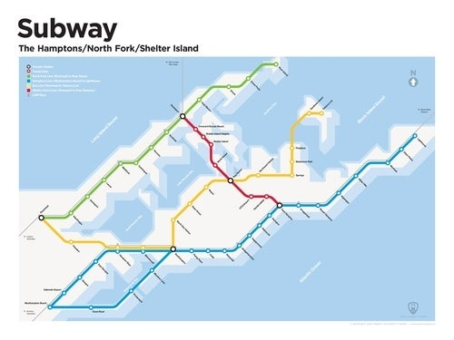 Hamptons Subway Map.Speculative Subway Maps From Our Underground Future