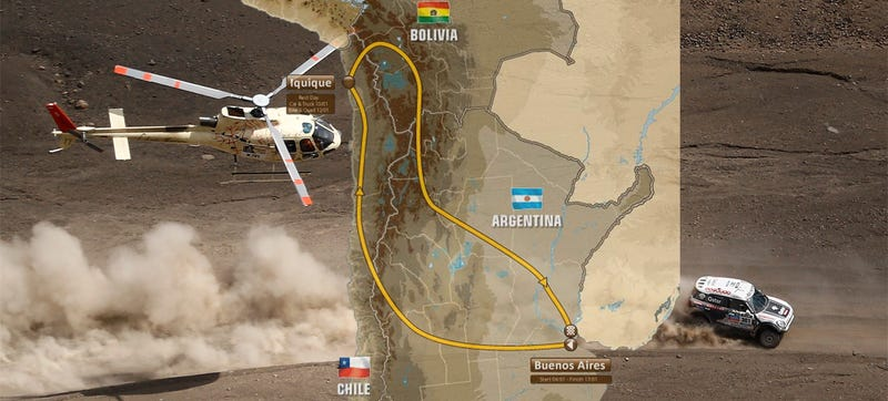 Illustration for article titled Why The 2015 Dakar Rally Could Look Very Different